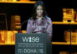 ميشيل أوباما في افتتاح مؤتمر القمة العالمي للابتكار في التعليم