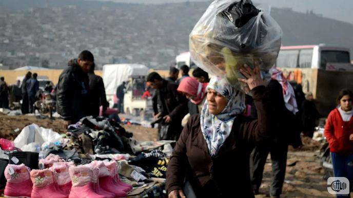 امراة في سوق عفرين/ تصوير: محمد بللو