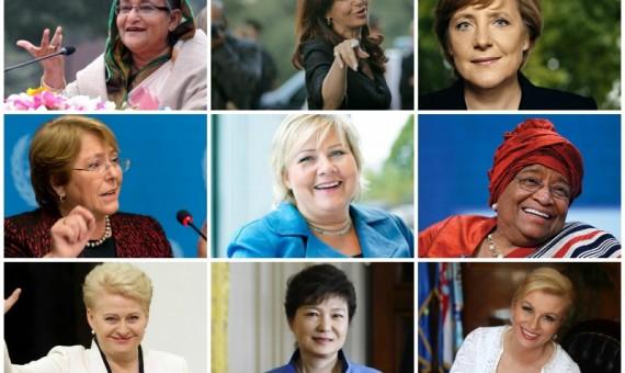 مجموعة من أبرز السيدات اللاتي يتزعمن دولهن في العالم
