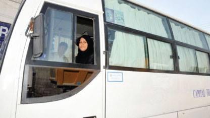 في بادرة جديدة دخلت المرأة السورية مجال النقل العام
