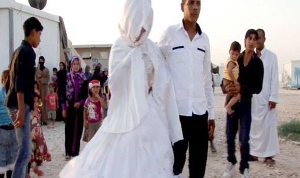 زواج القاصرات السوريات في مخيمات النزوح واللجوء