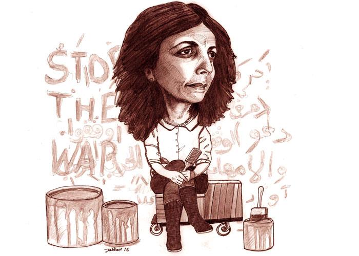 الفنانة التشكيلية السورية الأصل هالة الفيصل