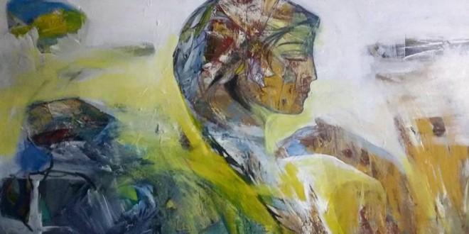 امرأة \ لوحة تشكيلية