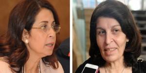 السيدتان أنصاف حمد & ديانا جبور؛ أعضاء في المجلس الاستشاري النسائي/ سانا