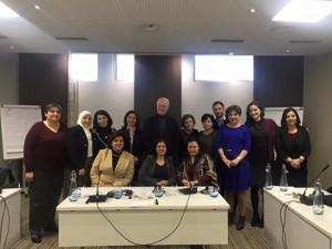 المكتب الاستشاري النسائي في اجتماعه الخاص مع المبعوث الاممي السيد ستيفان ديمستورا