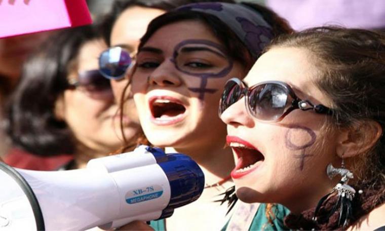تظاهرة نسوية في يوم المرأة