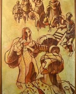 """اللوحة للفنان """"وليد نايف"""""""