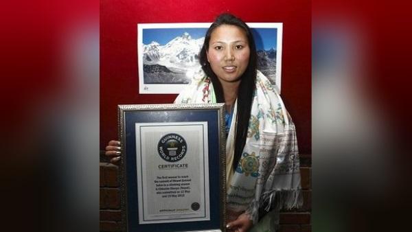 متسلقة الجبال النيبالية لاكبا شيربا/ د ب أ