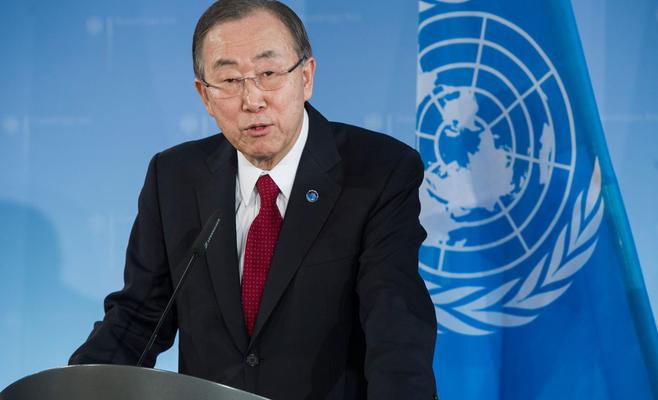 الأمين العام للأمم المتحدة، بان كي مون- (أرشيف)