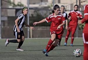 لاعبات المنتخب الأردني لكرة القدم للسيدات