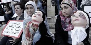 تظاهرة نسوية للاحتجاج على العنف ضد النساء /أ ف ب