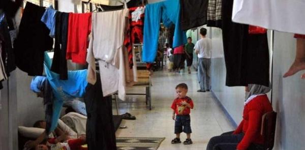 مركز إيواء في العاصمة دمشق/ قناة العربية