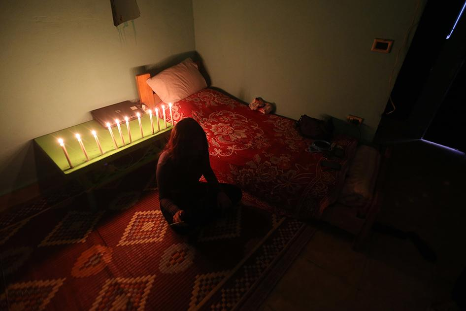 امرأة سورية ضحية للاتجار بالجنس لجأت لمأوى في مكان لم يُكشف عنه في لبنان