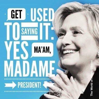 من ملصقات حملة ترشيح هيلاري كلينتون للرئاسة الأمريكية