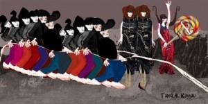 لوحة تشكيلية للفنانة تانيا الكيالي/سوريا
