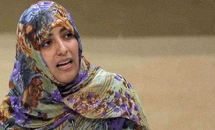 الناشطة اليمنية توكل كرمان (37 عاماً)