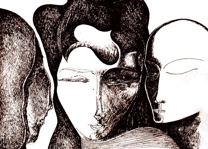 لوحة للفنان عبدالباسط الخاتم