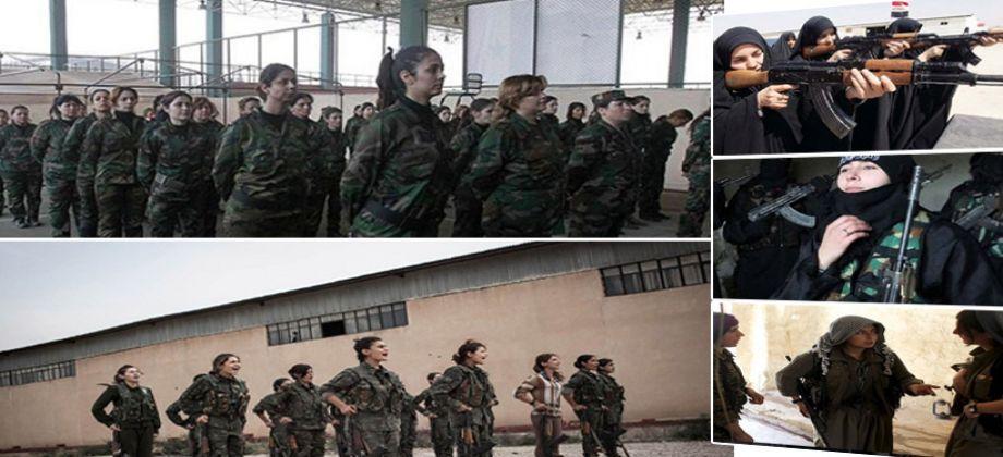 مقاتلات نساء تشارك في المعارك في سوريا