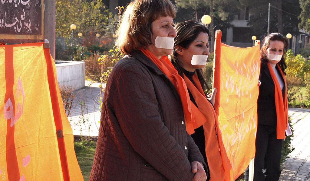 اعتصام نسوي لمناهضة العنف ضد المرأة