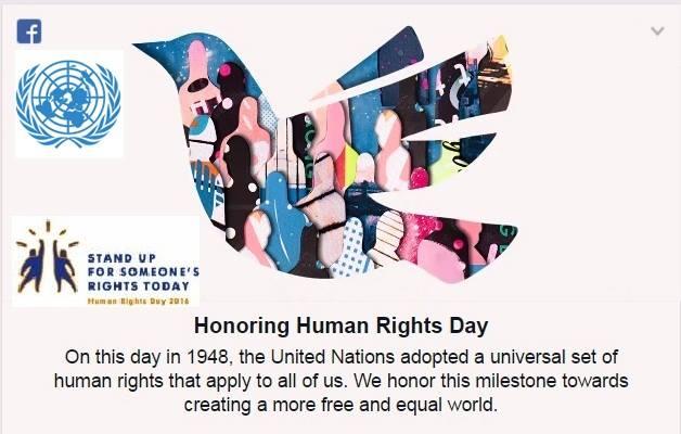 لوغو اليوم العالمي لاعلان حقوق الانسان عالفيسبوك