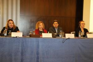 السيدة روبرتا جورينا، استاذة في جامعة سري، السيد ابراهيم دراجي، أستاذ في القانون الدولي، دمشق، السيدة لما قنوت، اللوبي النسوي السوري، السيدة رولى الركبي، اللوبي النسوي السوري