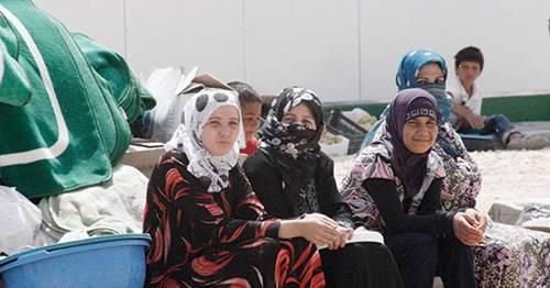 المرأة العربية اللاجئة