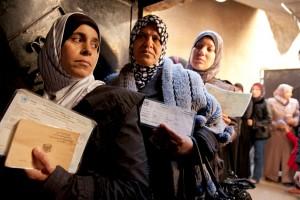 نساء في أحد المراكز الصحية في سوريا /أرشيف
