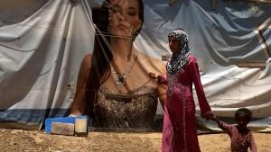 لاجئة سورية في أحد مخيمات اللجوء/ أرشيف