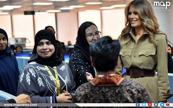 ميلانيا ترامب مع نساء سعوديات في الرياض