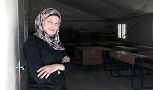 اللاجئة السورية والناشطة في مجال حقوق التعليم مزن المليحان