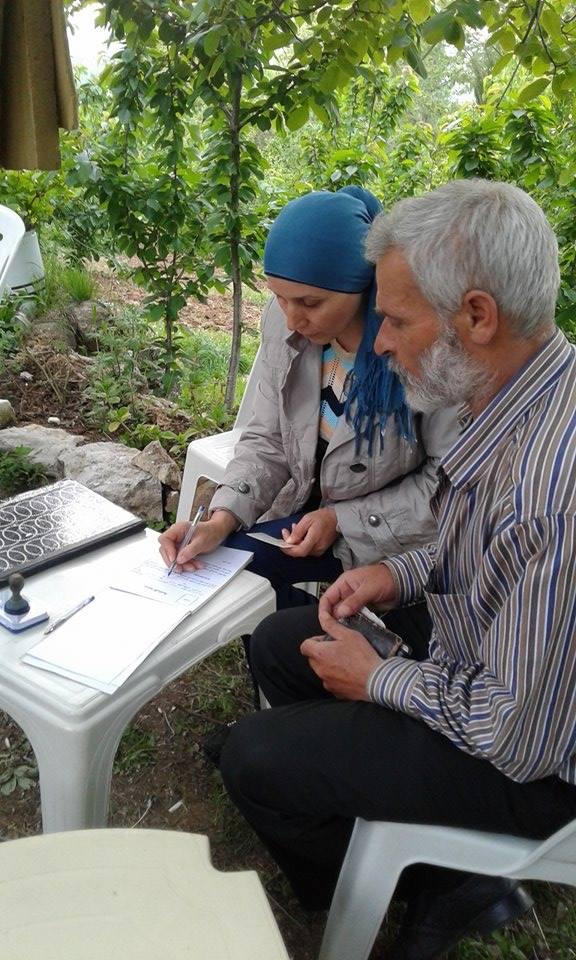 نهيدة عبد الحميد أول إمرأة تنتخب كـ (مختار) في سورية