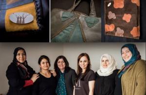 """""""نساء لاجئات يصنعن الفن"""""""