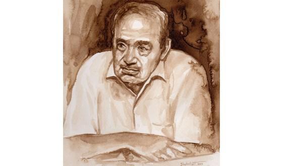 محمد شحرور/اللوحة للفنان السوري عبد الرزاق شبلوط