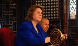 هدية عباس/ الرئيسة المعفاة لمجلس الشعب السوري
