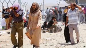 المرأة النازحة/اللاجئة