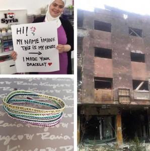 «أحب سوريا» (I Love Syria)، وهي مؤسسة اجتماعية تبيع الأساور يدوية الصنع