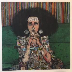 لوحة الفنانة زينة عاصي من لبنان بعنوان «القوة في يد المرأة»