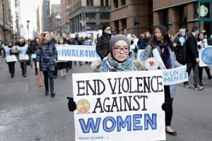 مسيرة إنهاء العنف ضد المرأة في 7 مارس 2016 نيويورك. Photo: UN Women/J Carrier