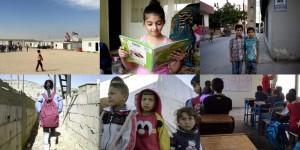 أطفال سوريون ومدارس في تركيا، لبنان، والأردن.  © هيومن رايتس ووتش 2017