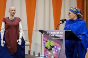 أمينة محمد نائبة الأمين العام & الروبوت صوفيا