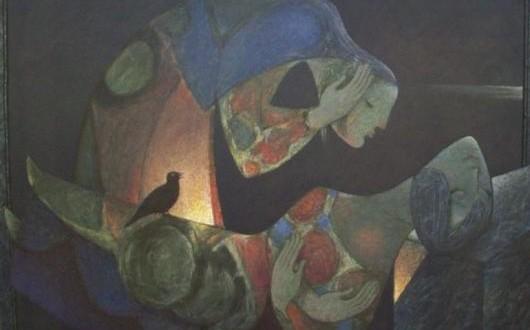 لوحة للفنان خزيمة علواني