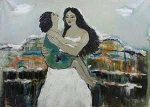لوحة للفنانة التشكيلية السورية رولا حمزة