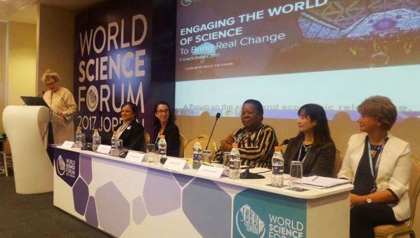 ورشة حول دور المرأة في التنمية، في أثناء فعاليات المنتدى العالمي للعلوم / SciDev.Net