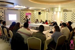 """ورشة تدريبية """"الصحة الإنجابية من منظور العنف القائم على النوع الاجتماعي""""/ ضمة وردية"""