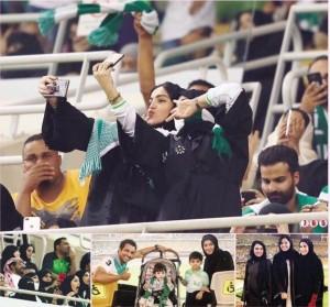 السعوديات على مدرجات الملاعب للمرة الأولى في تاريخ السعودية