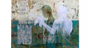 اللوحة للفنان شادي أبو سعدة