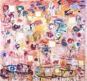 Joan Snyder, Postmardemgarden, 1995,