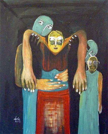 لوحة للفنانة دارين أحمد