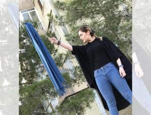 فتاة إيرانية تنتفض ضد إلزامها بارتداء الحجاب