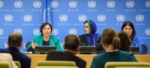 مجموعة من الحقوقيات العربيات في الأمم المتحدة